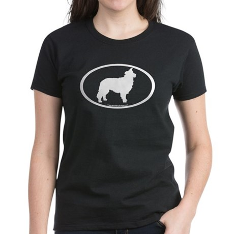Border Collie Oval Women's Dark T-Shirt