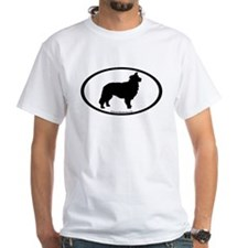 Border Collie Oval Shirt