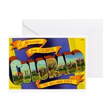 Greetings from Colorado Greeting Card