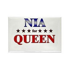 NIA for queen Rectangle Magnet
