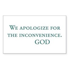 God's Last Message Rectangle Decal
