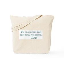 God's Last Message Tote Bag