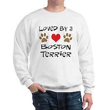 Loved By A Boston Terrier Sweatshirt