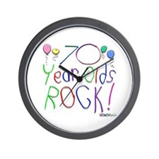 70 Year Olds Rock ! Wall Clock