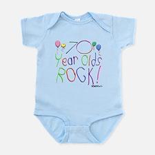 70 Year Olds Rock ! Infant Bodysuit