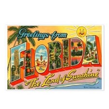Greetings from Florida I Postcards (Package of 8)