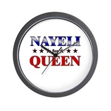 NAYELI for queen Wall Clock
