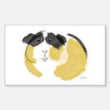 Watercolor Piggie Rectangle Decal