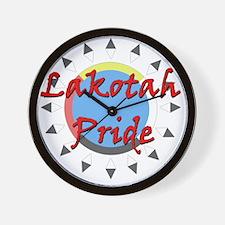 Lakotah Pride Sunburst Wall Clock