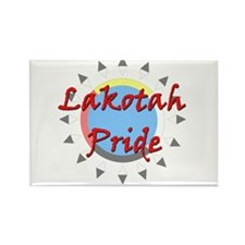 Lakotah Pride Sunburst Rectangle Magnet