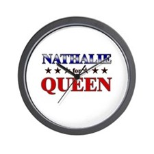 NATHALIE for queen Wall Clock
