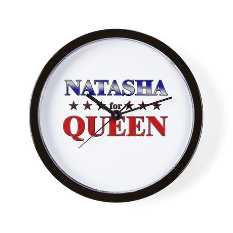 NATASHA for queen Wall Clock