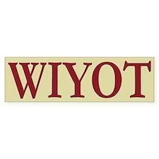 Wiyot Tribe Bumper Bumper Sticker
