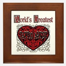 World's Best Tattoo Artist Framed Tile