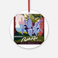 """Puerto Rico"" Ornament (Round)"