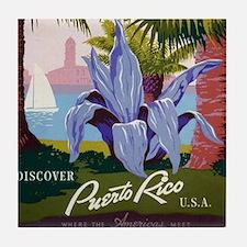 """""""Puerto Rico"""" Tile Coaster"""