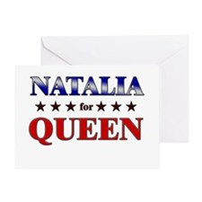 NATALIA for queen Greeting Card