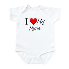 I Heart My Mime Infant Bodysuit