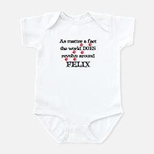 The World Revolves Around Fel Infant Bodysuit