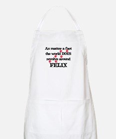 The World Revolves Around Fel BBQ Apron