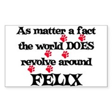 The World Revolves Around Fel Sticker (Rectangular