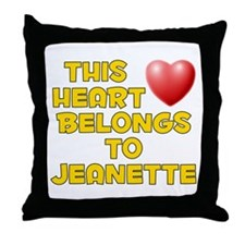 This Heart: Jeanette (D) Throw Pillow