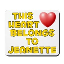 This Heart: Jeanette (D) Mousepad