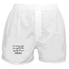 The World Revolves Around Ore Boxer Shorts