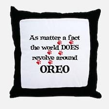 The World Revolves Around Ore Throw Pillow
