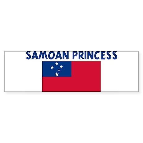 SAMOAN PRINCESS Bumper Sticker