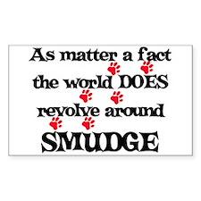 The World Revolves Around Smu Sticker (Rectangular
