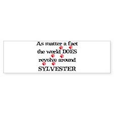 The World Revolves Around Syl Bumper Bumper Sticker