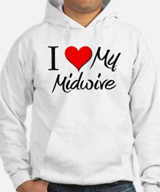 I Heart My Midwive Hoodie