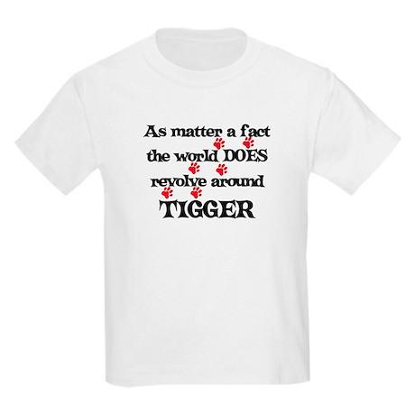 The World Revolves Around Tig Kids Light T-Shirt