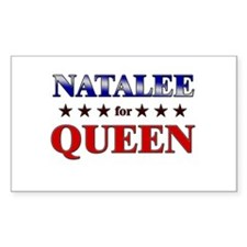NATALEE for queen Rectangle Decal