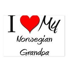 I Love My Norwegian Grandpa Postcards (Package of