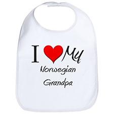 I Love My Norwegian Grandpa Bib
