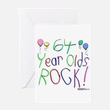 64 Year Olds Rock ! Greeting Card