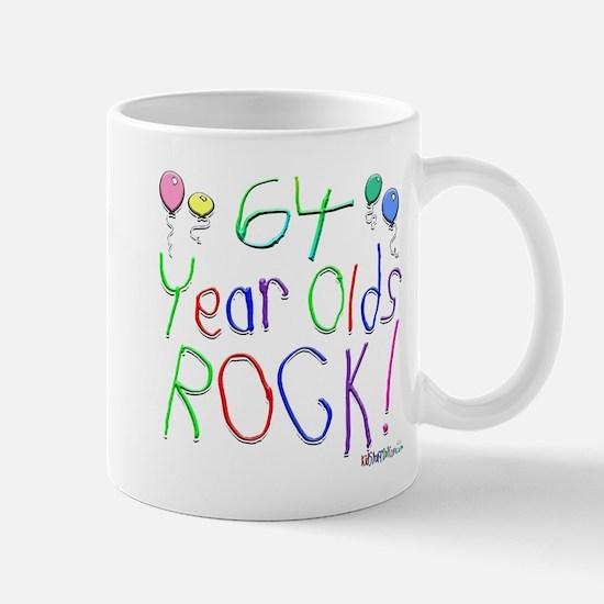64 Year Olds Rock ! Mug