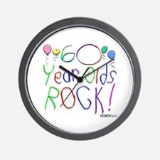 60 Year Olds Rock ! Wall Clock