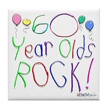 60 Year Olds Rock ! Tile Coaster
