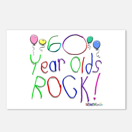 60 Year Olds Rock ! Postcards (Package of 8)