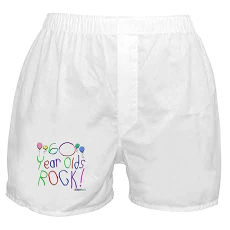 60 Year Olds Rock ! Boxer Shorts