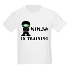 Green Eyes Ninja In Training T-Shirt