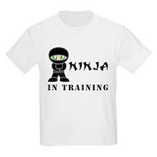 Green Eyes Ninja In Training T-Shirt