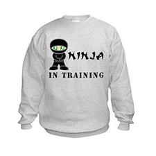 Green Eyes Ninja In Training Sweatshirt