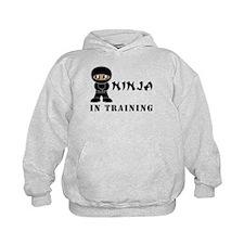 Dark Brown Eyes/Skin Ninja In Training Hoodie