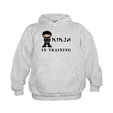 Brown Eyes Ninja In Training Hoodie