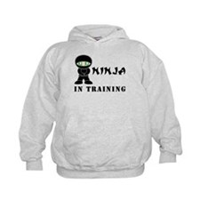 Green Eyes Ninja In Training Hoodie