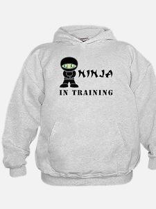 Green Eyes Ninja In Training Hoodie